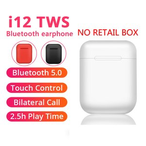 i12 Tws Headphone Touch Key Wireless Bluetooth 5.0 Earphone Mini Earbuds With Mic Charging Box Sport Headset For Smart Phone