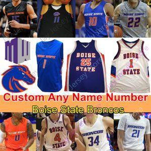 Costumbre 2020 Boise State Broncos Jersey Baloncesto NCAA Derrick Alston Justiniano Jessup RJ Williams Abu Kigab Alex Hobbs Hutchison