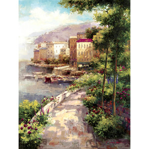 peintures florales pour salon Élimination du brouillard huile sur toile paysages peints à la main art