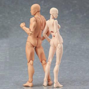13cm Jouets d'action Artiste mobile Homme Femme Joint Figure Body Modèle Mannequin Bjd Art Sketch Dessiner Figures Kawaii Figurine C19041501