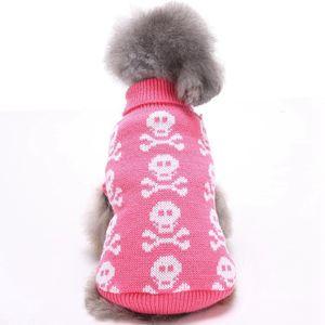 Atacado Dog Pet Sweater Crânio Outono-Inverno Sweater Pet Roupa Pet Dog camisetas filhote de cachorro clássico roupas para cachorros cães Pano shirts Roupa