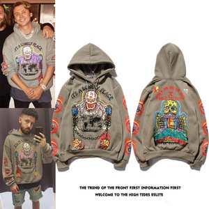 Kanye Hip Hop Hooded Velvet Graffiti plus Sweat-shirt à capuche Homme Xxxtentacion Streetwear Harajuku Stranger Things Hoodies T200602