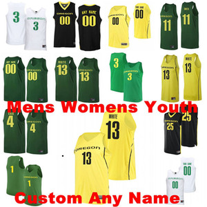 Oregon Ducks Maglie Addison Patterson Jersey C.J. Walker Lok WUR Brooks Anthony Mathis College Basketball Maglie Mens personalizzato cucito