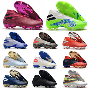 Mens Messi Nemeziz 19+ FG scarpe da calcio senza lacci asso 19 + x 19.1 Slip-On di football Stivaletti Scarpe chiodate Dimensioni US6.5-11