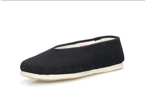 New Health Comfort Ткань из плотной ткани ручной работы из тысячи слоев с ребристой подошвой повседневная обувь Walk Travel Indoor Boss для мужчин .. Круглый рот