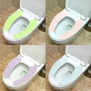Сиденье для унитаза Крышка WC Paste Туалет Крышка сиденья Обложка Pad может быть разрезана Solid Color моющегося туалета наклейки Главной Путешествия Mat сиденья свободной перевозка груз 2019