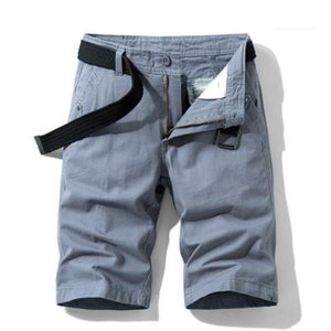 Strand beiläufig Bekleidung Mens-Sommer-Designer Cargo Pants Solid Color Fashion Style Homme Kleidung Taschen New Style 2020SS
