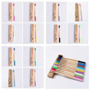 Натуральный бамбук мягкая щетина зубная щетка 12 стилей бизнесмен одноразовая зубная щетка гостиничный номер замена зубной щетки 100шт RRA2797