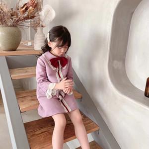Çocuk Dış Giyim Bebek Kız Giyim için bahar Sonbahar Kız Bebek Coats Yenidoğan Bebek Kız Giyim Kış Dantel Ruffles Coat Bebek Giyim