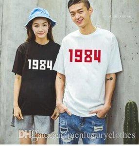 Tişört Kadınlar Aşıklar tişörtleri Tüm Maç Klasik Tees Kısa Sleeve Mens 1984 Numaraları yazdır