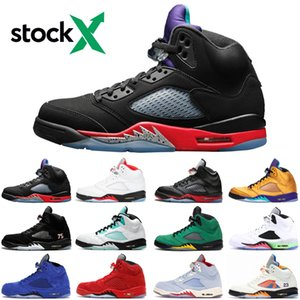 New Jumpman NIKE Air jordan 5 5s top 3 Fire Red Michigan Mens Basketball Shoes black grape fresh prince black muslin satin bred designer sneakers trainers