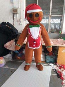 Noël gingerbread man mascotte carton costume de mascotte de Noël