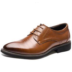 Hih Qualität echtes Leder-Männer Broues Schuhe Lace-Up Bullock Geschäfts-Kleid Männer Oxfords Schuhe Männlich Formal Schuhe plus Size38-48
