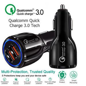 Автомобильное зарядное устройство 5 В 3.1A Быстрая зарядка Dual USB Быстрая зарядка для Iphone Xs Max 7 8 Plus для Samsung S9 S8 S7