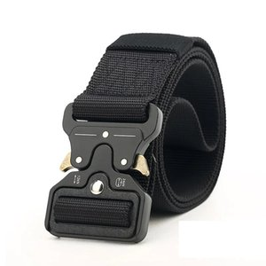 2019 Tactical Belt,1.77'' width Military Style Webbing Riggers Web Belt Heavy-Duty Quick-Release Metal bigger Buckle free shipping