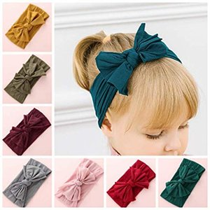 27 colores Big bow belt Kids Solid Kids Baby Flower Headbands 2019 nuevos accesorios para el cabello bohemio Head Wrap Girls para niños