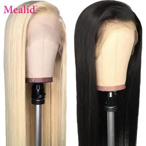 Glueless 613 Blonde Lace Front Perücken Remy brasilianischen Glattes Haar-Spitze-Frontmenschenhaar-Perücken 13x4 Pre Zupforchester mit Baby