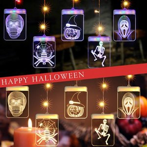 JML 3D Halloween Lights LED Strings Halloween Decorations Ghost Spider Skeleton Fairy Lights USB Powered Holiday Decor