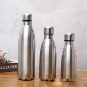 0,35 L 0.5L 0,75 l Cola-Flasche Edelstahl-Cola-Form-Wasser-Flasche einlagig Coke Außenwasserflaschen