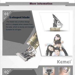 Kemei KM-1974a Электрический триммер Аккумуляторная Аккумуляторный для мужчин бороды Триммер 0mm напролом машинки для стрижки волос резки newclipper SDwE
