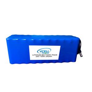 Paquete de batería de iones de litio recargable de 24 V 10Ah / 20Ah 18650 7S de alta calidad personalizada para bicicleta eléctrica / motor