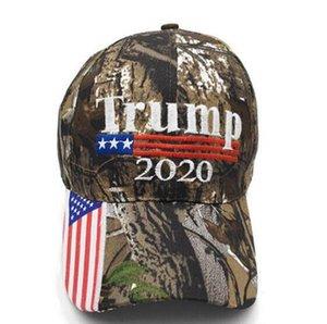 Camuflaje Trump sombrero de béisbol de 2020 que Estados Unidos sea de algodón Gran Donald Trump Elección del bordado de los deportes al aire libre Sun Caps Partido casquillo gorras IIA73