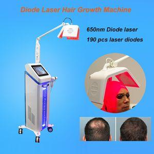 650nm diodo láser crecimiento del cabello machineanti-pérdida de cabello crecimiento del cabello máquina de uso doméstico/venta caliente perfecto potente láser máquina de crecimiento del cabello