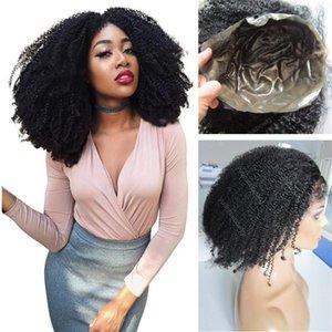 Indiani ricci del Virgin dei capelli vendita calda parrucca piena del merletto del silicone 1b completa sottile pelle nera parrucca per trasporto libero delle donne