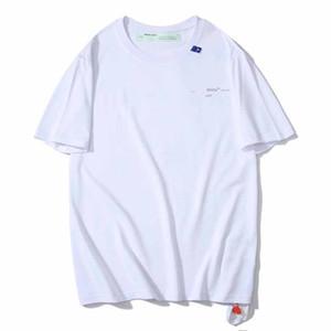 Alta Qualidade 20SS Designer camisa Mens Verão T OFF Super 3M reflexiva incompleta Esboço Seta manga curta letra da cópia Casal Luxo Tee