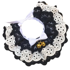 Cute Three-Layer Lace Bowknot Small Bell Pet Collar Bib Dog Cat Necklace Decor Home Pet Fashion Neck Collar