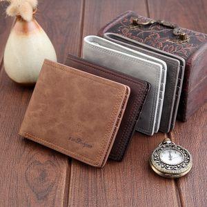 Держатель Мужчины Короткого Бумажник Двойной кредитной карточки удостоверение личности Тонкого кожаный бумажник кошелек сцепление