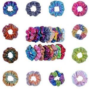 Scrunchies Headband Laser Girls Ponytail Holder Shiny Scrunchies Rope Tie Hair Rubber Laser Scrunchies Hair Band Hair Accessories