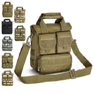 Aire libre deportes ocasionales de excursión el morral de múltiples bolsillos de camuflaje bolsa de mensajero de los hombres de moda con mochila Packs Fit camping equiments 48dw E1