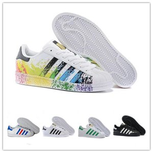 2019 Designers Originals Superstar White Hologram Iridescent Gray Gold Superstars 80s Pride Sneakers Super Star Women Men Sport Casual Shoes