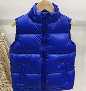 2020 Winter Kids Designer Thick 90% Real duck down Vest Boys Sleeveless Jackets Girls Luxury Map Outdoor Clothes Babys Top quality