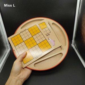 Eğlenceli 5 1 Sudoku Bulmaca Çok Fonksiyonlu Satranç Tahtası Ahşap Oyuncak Çocuk Hediye Zeka Eğitim Zihin Oyunu