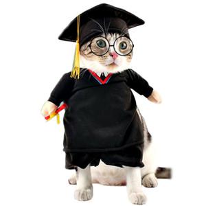 Drôle Pet Costume Phd Chat Vêtements Vêtements Pour Chiens Halloween Noël Cosplay Vêtements Costume Outfit Pour Un Chat Cat Costume Y19061901
