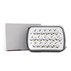 45w retângulo 7x6 faróis LED Hi / Low selado feixe H4 PLUG H6054 H5054 6052 para Jeep Wrangler YJ Cherokee Xj Toyota captador