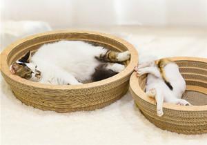 Cat Scratch Board Big Cat Toy Corrugated Papier Schüssel mit Catnip Karton Schüssel Grinding Klaue Schlafenbett