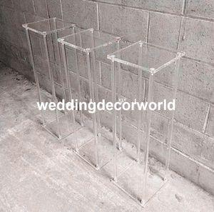Clássico alto vaso de casamento sisle acrílico passagem de cristal passarela decor615