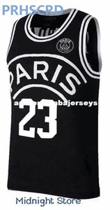 2018 بلوزات AJ PSG جديدة 23 Michael MJ NEYMA 10 jr jersey 7 MBAPPE Basketball Balck Jersey sweater Jersey Ncaa