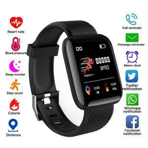 116 plus intelligent Regarder Wristband Vibration Fitness Pression artérielle Fréquence cardiaque Message d'appel Rappel Android Podomètre montre Smart Watch Bracelet