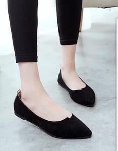 Hot Sale-Low-salto alto fosco sapatos femininos verão nova luz plana respirável apontou boca rasa sapatos casuais sapatos de trabalho