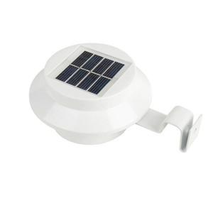 10pcs / Lot 3 LED lampada alimentato solare Portico Yard Gutter LED recinto del cortile Luci Lampade da parete impermeabile Illuminazione esterna