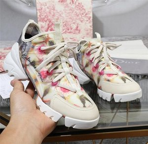 "19SS Fashion LUX Women Designer Sneakers, ""B21"" Socks D CONNECT Floral Sneakers Summer Casual Women Brand Shoes Wedges Platform Boots"