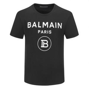 여름 스트리트 착용 T 셔츠 남성 명품 브랜드 티셔츠 스웨터 남성 캐주얼 티 셔츠 패션 크루 넥 코튼 티셔츠 M # 발 메인-4XL 인쇄하기