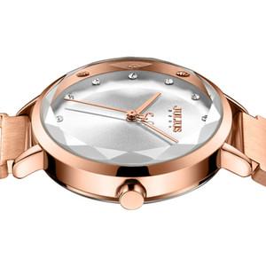 JULIUS nuevo diseño creativo imán de malla de acero inoxidable banda reloj de mujer Japón Miyota Movt moda reloj de cuarzo JA-1143