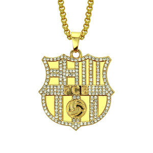 New Style Necklace Hip-hop Lettered Necklace Foreign Trade Football Military Brand Pendant European and American Necklace