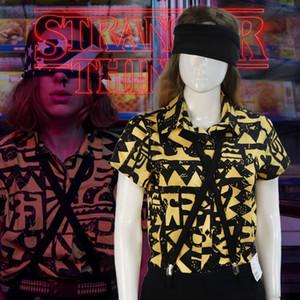 Stranger Stagione Cose 3 costume cosplay Undici shirt Blindfold bretella di estate T-shirtMX190921