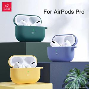 Für Apple AirPods Pro Kopfhörer Fall XUNDD Liquid Silicone Stoß- Rüstung Abdeckung für AirPods 1/2 Kopfhörer-Kasten Capa